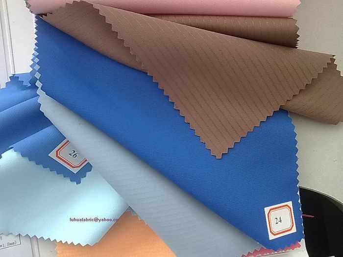 polyester pongee stripe fabric (wj-fh2-18)