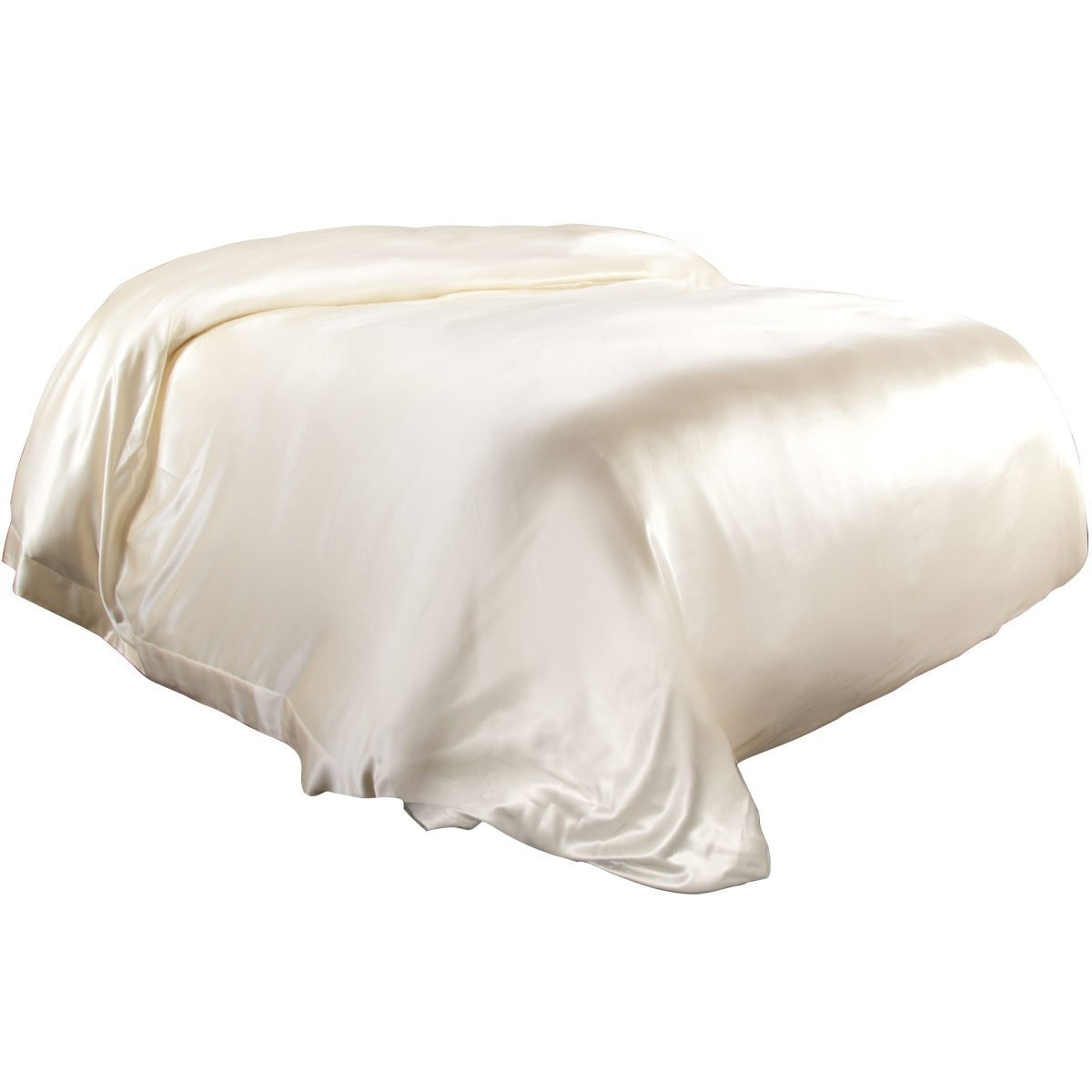 4 pcs 19MM Pure Silk Fitted Sheets Set Full size multi colors Ivory (seams)