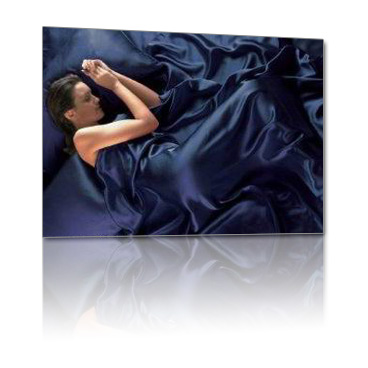 4 pcs 19MM Pure Silk Fitted Sheets Set Full size multi colors navy blue(seams)